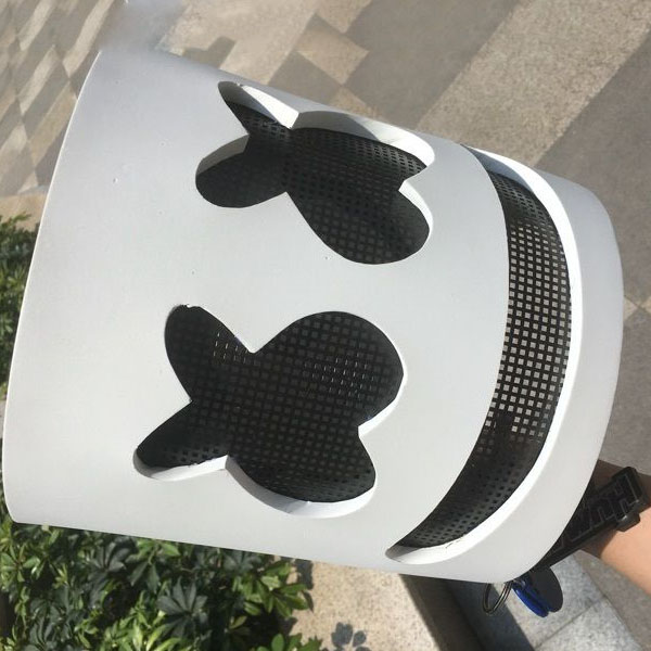 DJ Marshmello Masque Cosplay Costume Accessoire Casque pour Halloween Party Props Marshmello Masque Pour Les Enfants