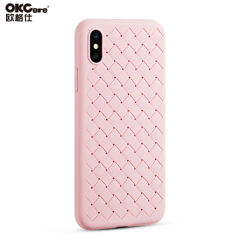 OKCore Hot Sale Braided Silicone Soft Radiating Mobile Phone Protective Cover Case for Apple iPhone 6 6s 6Plus 7 8 Plus X 10