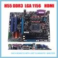 NOVA porta hdmi DDR3 mainboard H55 LGA1156 Motherboard