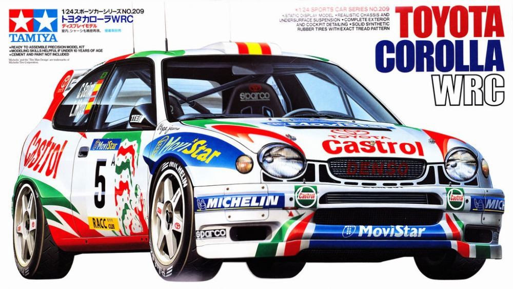 Tamiya 24209 1/24 Model Car Kit Toyota Corolla WRC \'98 Monte Carlo ...