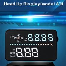 Universal Car HUD Display GPS Speed Warning MPH/KM/h Plug Head Up Speedometer 3.5″