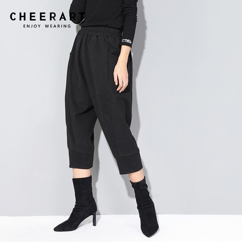 d4ac79a9ab Cheap Pants & Capris, Buy Directly from China Suppliers:Cheerart Wool Pants  Women Black