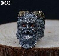 S925 silver vintage Thai silver ring fashion Satan styling men's silver ring
