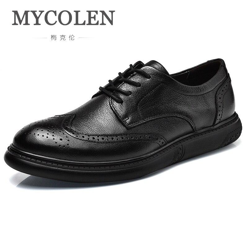 Mycolen Lining Respirant La Material Marque Mode En Hommes Casual Nouveau À none 2018 Main De Printemps Pour Chaussures Luxe Cuir Automne CrQtxshd