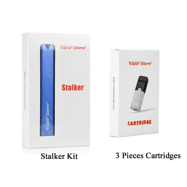 Vapor Storm Stalker E Cigarette Starter Kit 400mah Battery 1 8ml Cartridge  Replaceable Mini Vape Pen Kit Pod Vape Mod System