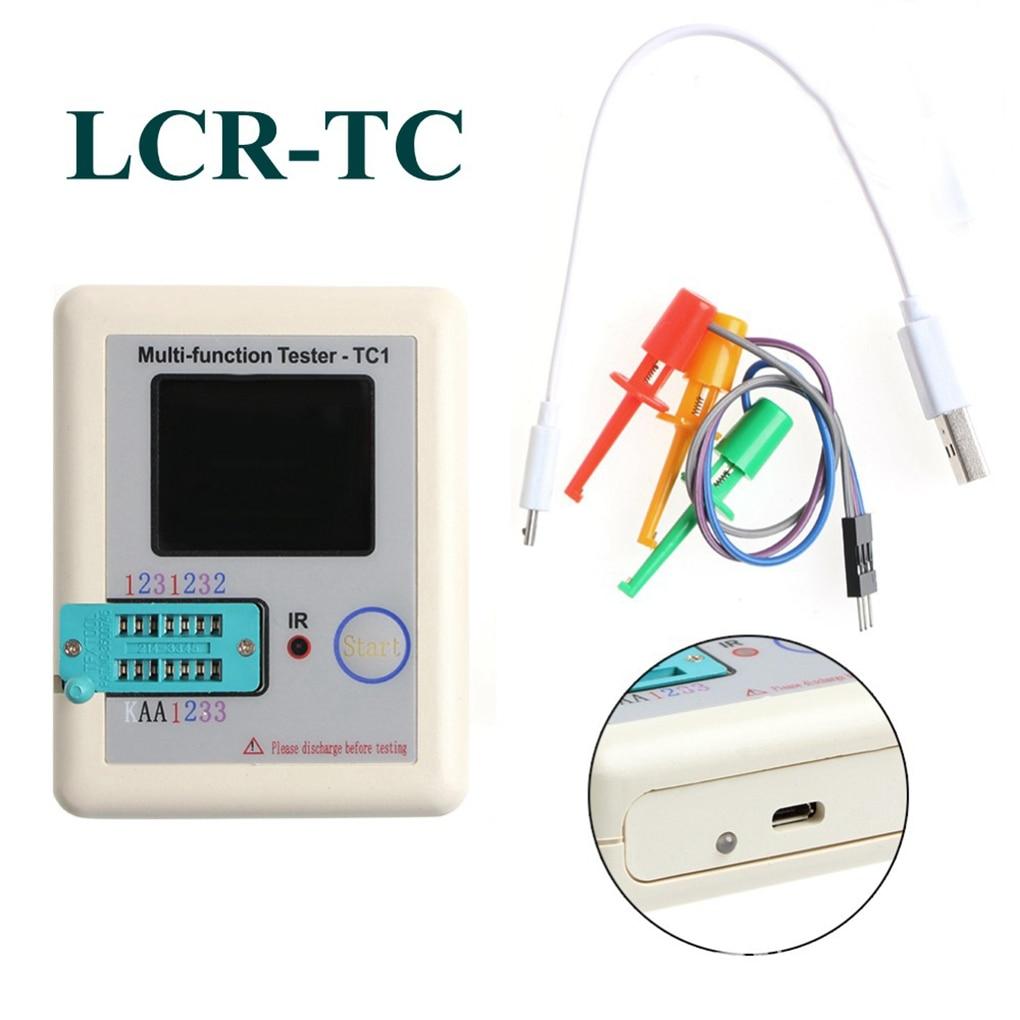 TFT Transistor Tester Capacitance Meter LCR ESR NPN PNP Capacitor Checker Detector USB Charging LCR-TC1 free shipping 1000pcs lot 2sc1675 y 2sc1675 c1675 transistor to 92 npn transistor