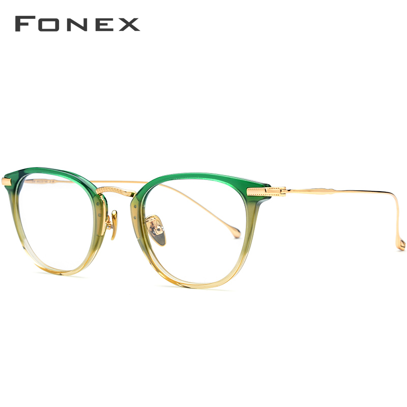 Image 3 - Pure B Titanium Optical Glasses Frame Men Vintage Square Prescription Eyeglasses Women Retro Round Myopia Spectacles Eyewear 839-in Women's Eyewear Frames from Apparel Accessories