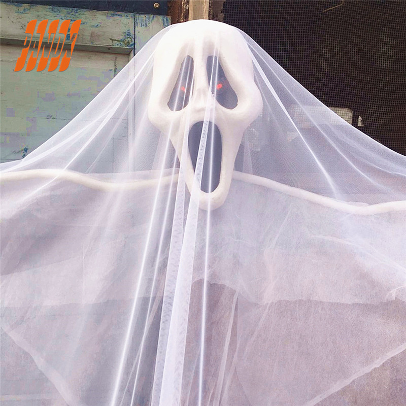 13FT Halloween Props Hanging Ghost Scary Skull Haunted
