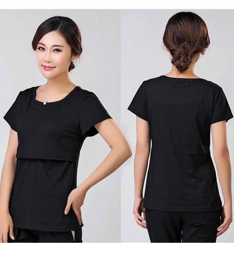 2016 lato macierzyństwo pielęgniarstwa ubrania kobiet w ciąży karmienie piersią karmienie piersią nakrywa trójniki t-shirt maxi premama nosić clothing 6