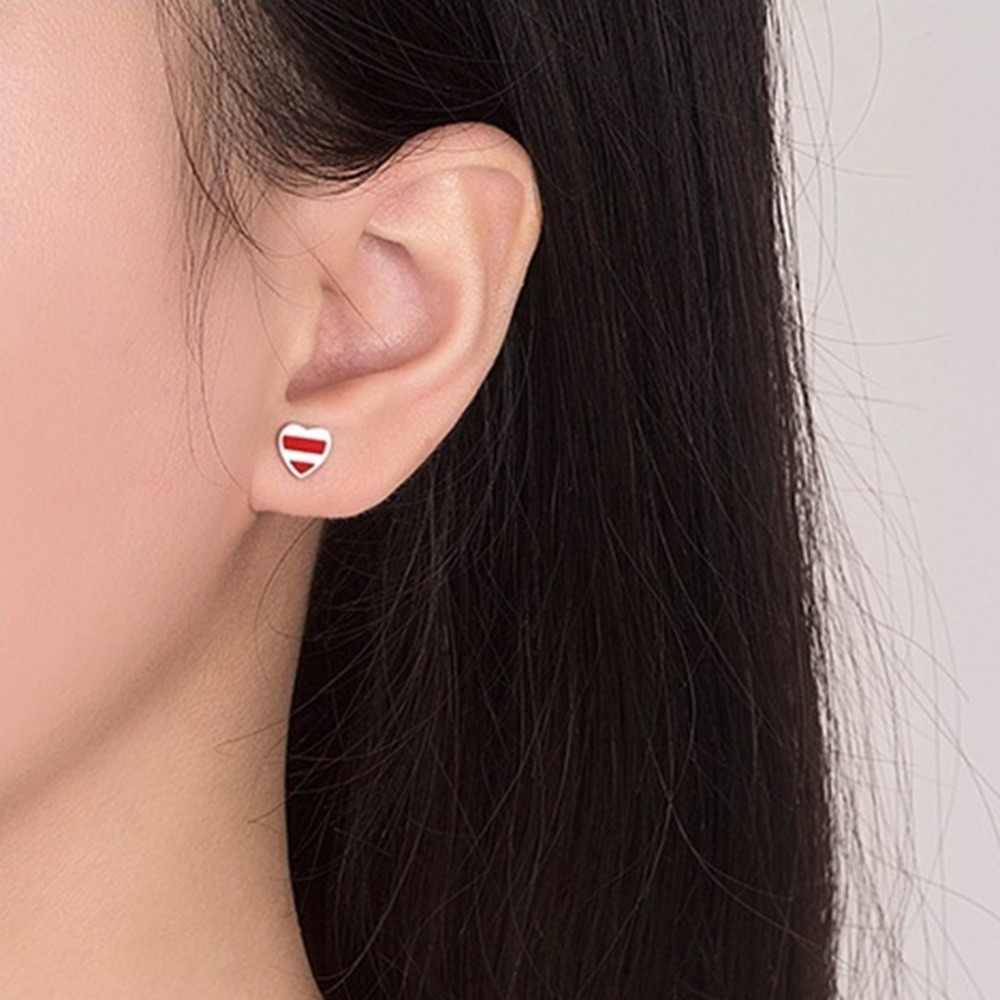 2019 mode amour flèche en forme de boucles d'oreilles asymétriques couleur argent géométrique boucles d'oreilles pour femmes filles bijoux simples