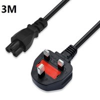 UK Plug 3M 10FT 3 Prong Cord Power Cable Lead For Laptop PC Adapter Computer Monitors