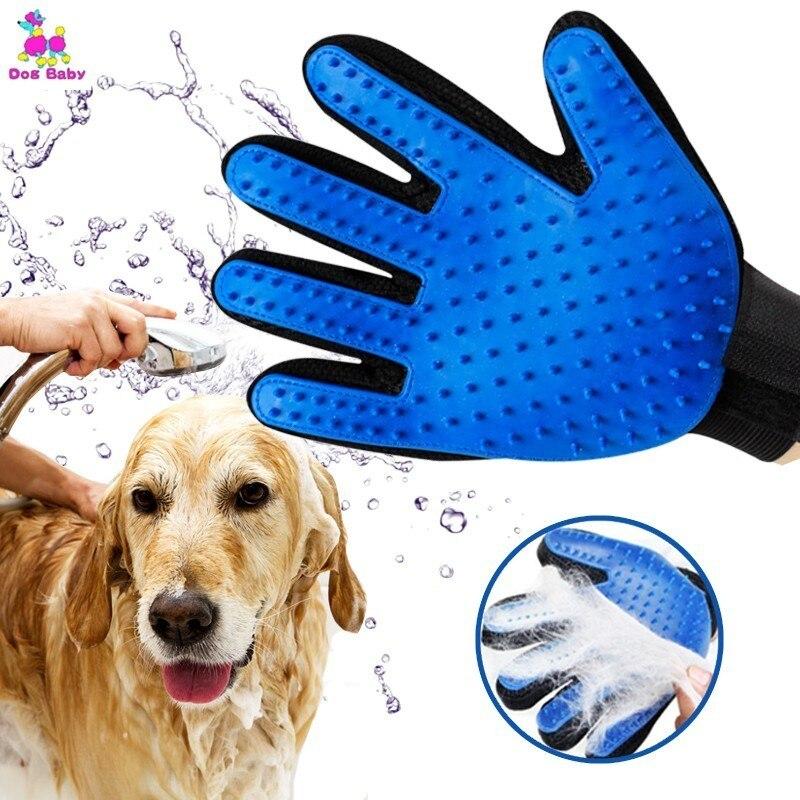 1 PC Silicone Pet Brush Glove Deshedding Gentle Efficient Grooming Cat Glove Supplies Pet Glove Dog Accessories Supplies