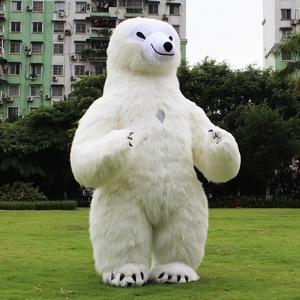 Image 5 - Nova chegada 2.6m inflável panda traje para publicidade personalizar urso polar inflável mascote traje de halloween para adulto
