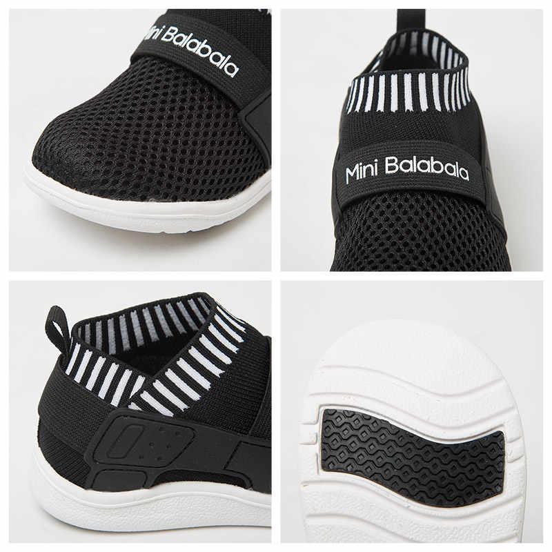 Mini Balabala Kids Ademend Slip-on Sneakers Peuter Jongens Lichtgewicht Zomer Mesh Loopschoenen Sport Schoeisel Non-skip ontwerp
