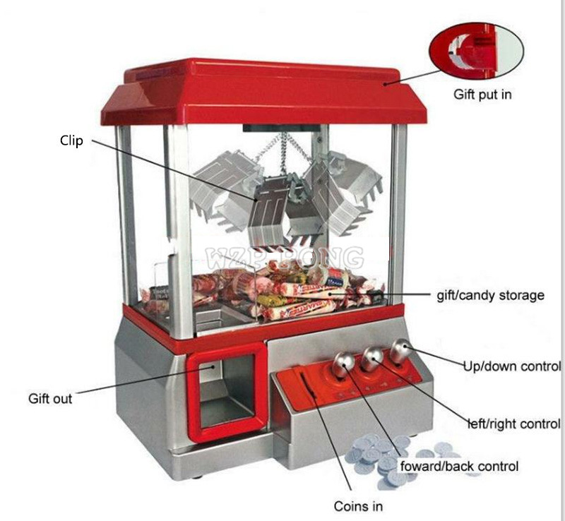 New Coin Operated Crane Machine Toy Doll Candy Grabber Machine Retro Carnival Arcade Machine Catcher Candy Machine Kids ToyNew Coin Operated Crane Machine Toy Doll Candy Grabber Machine Retro Carnival Arcade Machine Catcher Candy Machine Kids Toy