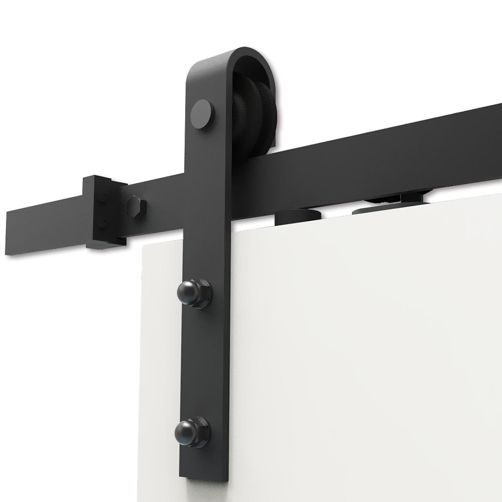 ft Carbon Steel Rustic Interior Sliding Wood Barn Door Hardware In Doors From Home Improve Rustic Interior Door Handles