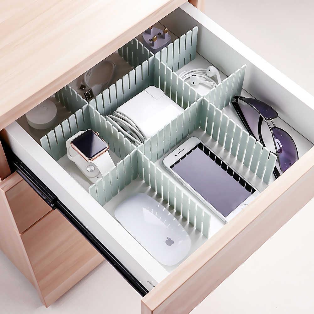 Mrs win 4pcs/Set Plastic DIY Grid Drawer Adjustable Separator Divider  Household Necessities Storage Organizer Space saving Tools    - AliExpress