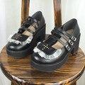 Японии Новая Лолита Обувь Кружева Крест Прозрачный Водонепроницаемый Туфли На Платформе насосы Обувь Женщина На Высоких Каблуках симпатичные косплей обувь