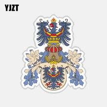Yjzt 10.2 cm * 12.2 cm criativo carro adesivo carniola brasão de armas bandeira adesivos 6-2725