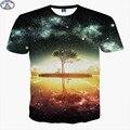 Mr.1991 marca galaxy y árbol 3d t-shirt para niños nuevos 2017 estilo hip-hop de verano adolescentes camiseta grande niños tops de la venta Caliente A41