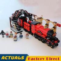 Hogwarts Express 16055 Harri Movie Potter Building Blocks Train Railway Model Bricks Kids Toys Gift LegoINGlys 75955