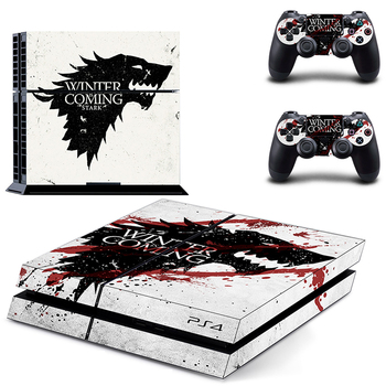 HOMEREALLY PS4 Skin Game Thrones Winter is Coming Stark Sticker Wrap For Sony PlayStation 4 Console and Controller Ps4 Accessory