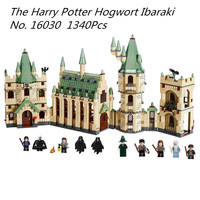 Models Building Kits Toy Lepin 16030 1340Pcs The Hogwarts Castle Set Children Educational Building Blocks Bricks