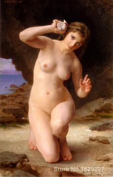 famous portrait painting Woman with Shell by William Adolphe Bouguereau Hand painted High quality