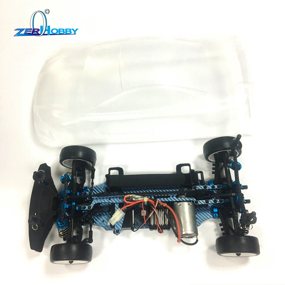 S120011 102-17-30 1/10 scale drift chassis, R3 standard color fiber