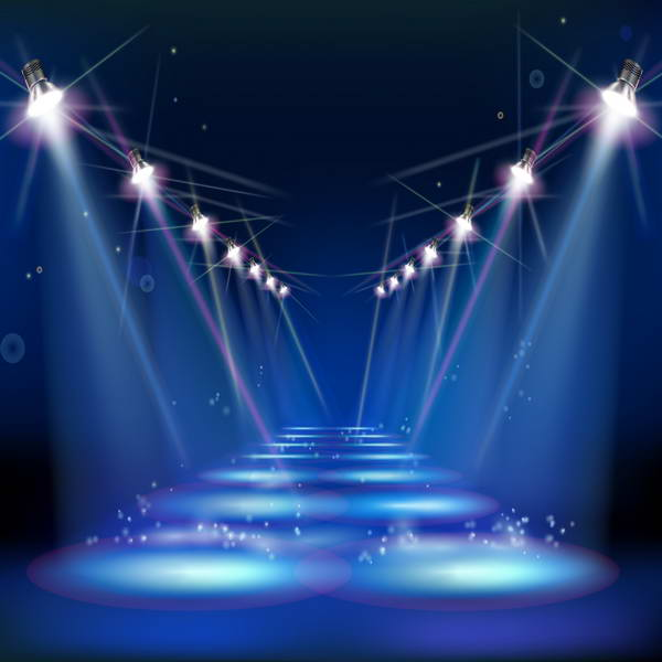 Blue Light Broadway Stage Photography Studio Background