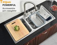 Multi Functional Kitchen Wash Basin With A Knife Knife 304 Stainless Steel Stainless Steel Wire Drawing