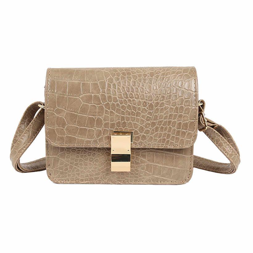 19f29eef84d 2019 Spring Fashion Women Shoulder Bag Leather Strap Flap Designer ...