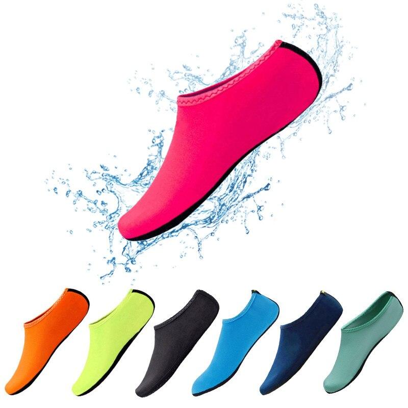 Обувь для плавания Аква пляжная обувь, летние уличные пляжные однотонные кроссовки носки тапочки для мужчин и женщин