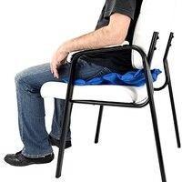 PVC Air Self Inflatable Waffle Cushion Seat Pad Medical Hemorrhoids Pump Wheelchair
