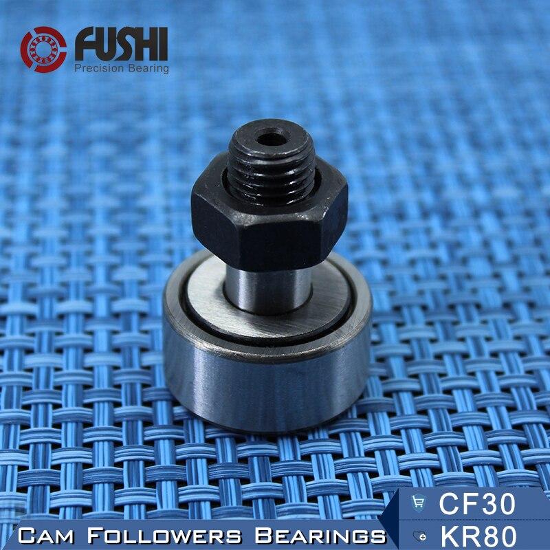 KR80 CF30 Cam Followers Bearing 30mm ( 1 PC ) Stud Type Track Rollers KRV80 CF30B NAKD80 KR80PP / UU Bearings CF-30 купить б у panasonic cf 30
