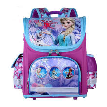 Girls Butterfly School Bags Nylon Orthopedic Princess Elsa Backpacks for Primary Students Children Kids Bookbag Schoolbags