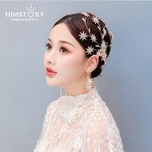 Rose Gold Vintage Crystal Star Tiara Headband Hairpins Rhinestone Bridal  Hairband Women Wedding Hair Jewelry Accessories цена 2017