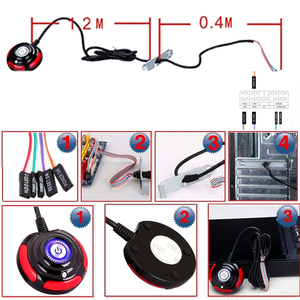 Image 5 - Desktop Computer PC Power Supply on/off Reset Push Button Switch Cable 1.6m