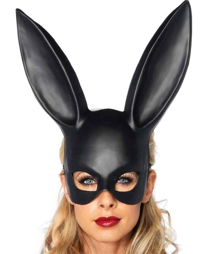 49b397d3fd7 Easter Bunny Rabbit Ear Mask Sexy Women Hen Night Fancy Dress Costume Props Carnival  Party Masks