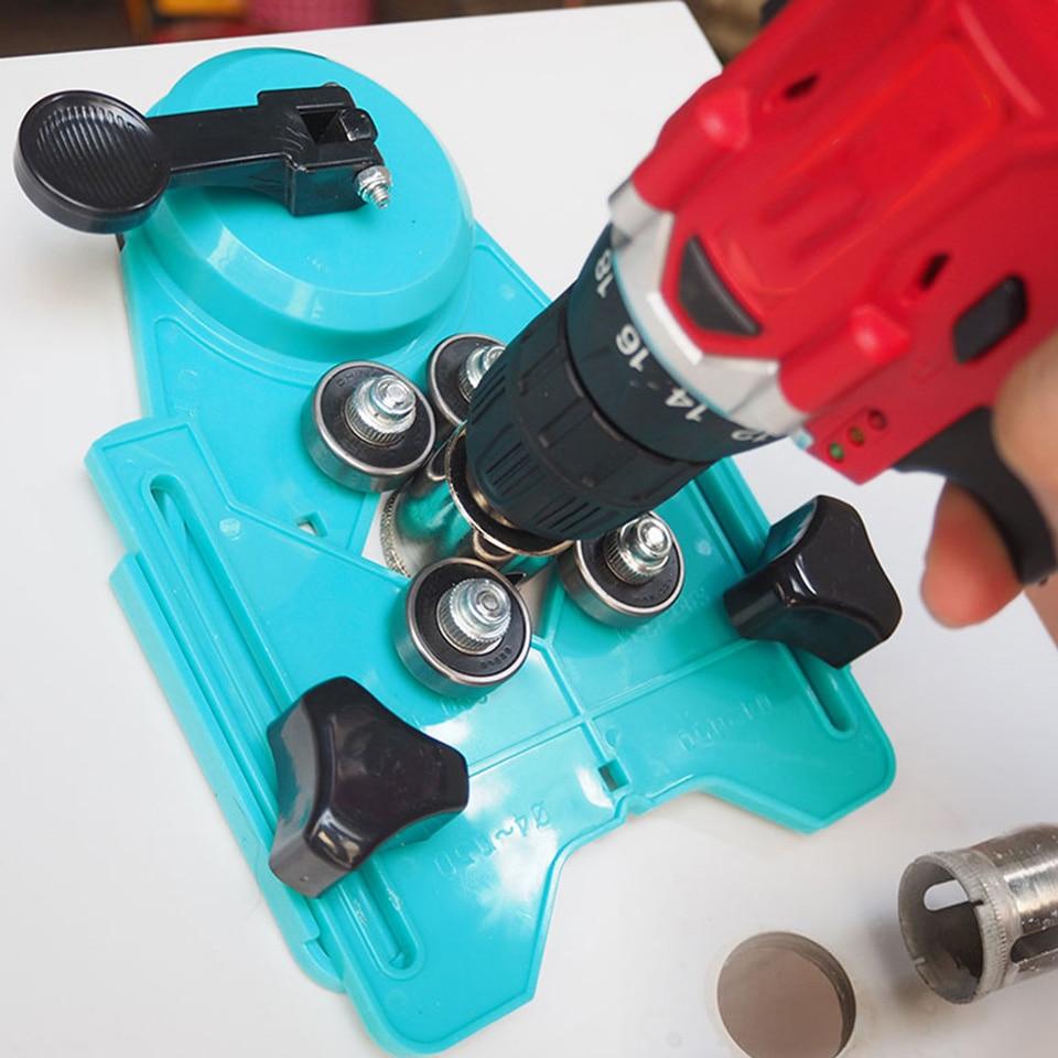 4-83mm Localizador Localizador Buraco Telha de Mármore Buraco Saw Para Abertura De Vidro Vidrio Agujero Perforado Herramienta Telha Localizador buraco
