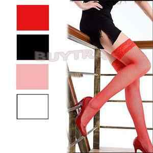 JCAAAP Frauen Knie Socken Sexy Nylon Rot Dessous Fishnet Strumpf Sheer Ultradünne Strumpfhosen Hohe Strümpfe