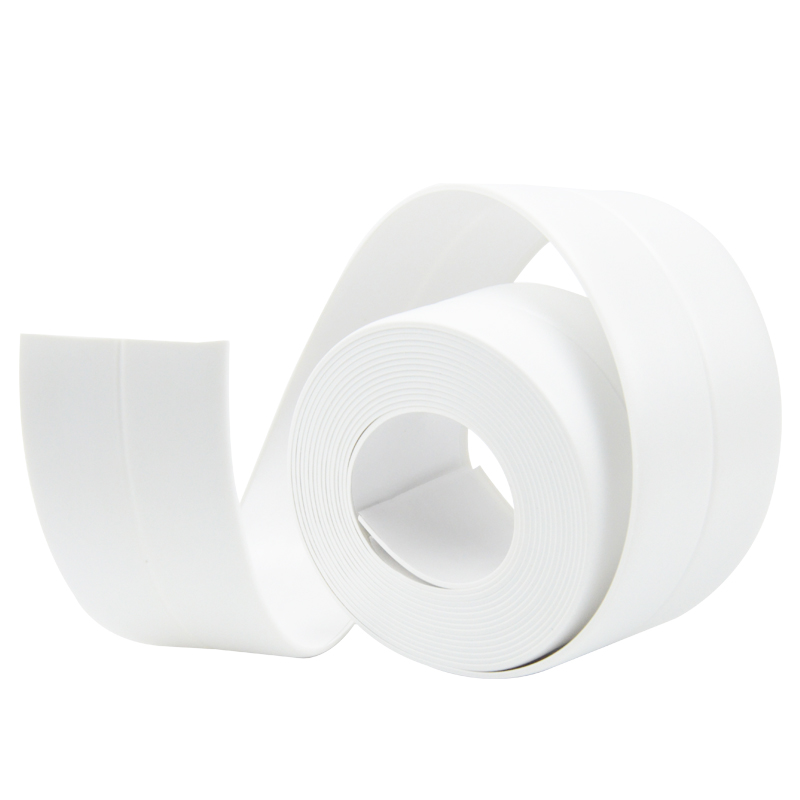 New Style Self Adhesive Bath Wall Sealing Strip Sink Basin Edge Trim 22mmx3.2m White