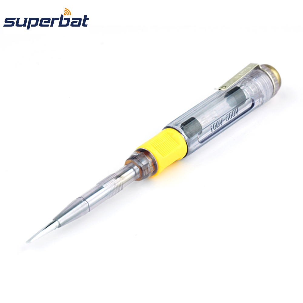 Superbat Replacement 2-function Electric Test Pen Slotted&Phillips Tip Screwdriver Electrify Voltage Detector 100-500V 138mm