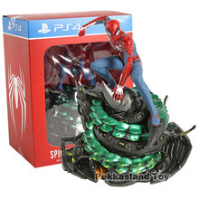 Da Marvel Homem-Aranha PS4 Collectors Edition Jogo Spiderman PVC Figura Collectible Toy Modelo(China)