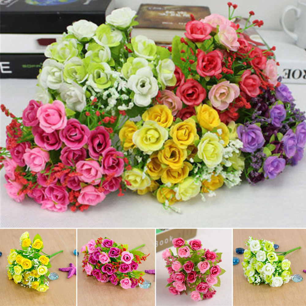 23cm Artificial Silk Rose Flower Balls With 21 Head Flowers For Wedding  Flowers Centerpiece Wedding Party Decoration Home Decor