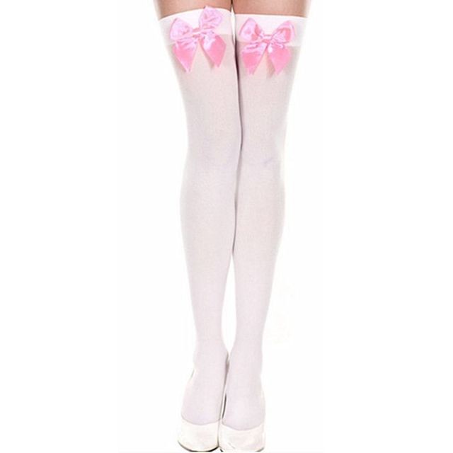 Women's Stretchy Bowtie Stockings (8 Colors)