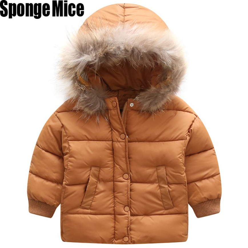 2017 Winter New Warm Boys Girls Thin Down Cotton Coat Baby Kids Spring Autumn Down Jacket Children 2-8Year old Outwear Clothes 2016 winter thin down jacket fashion girls boys cotton hooded coat children s jacket outwear kids casual striped outwear 16a12
