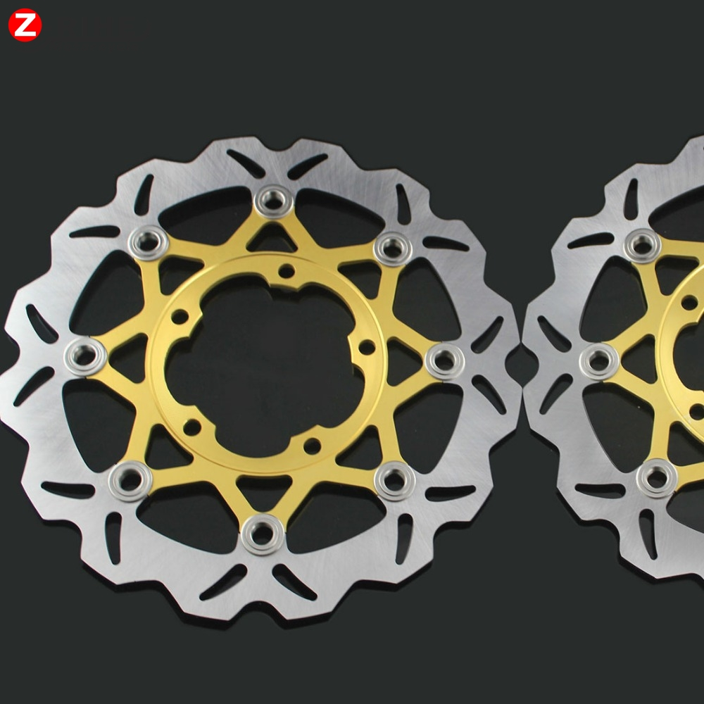 For SUZUKI GSXR600/750 06-10 GSXR1000 K5 2005-2006 2PCS Front Floating Brake Disc Rotor motorcycle parts Aluminum  Brake Rotors