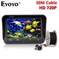 Eyoyo оригинал 30м 720P профессиональная камера рыбоискатель подводная подледный лов рыбы  ночного видения 6 инфракрасные  светодиоды 4.3 дюймовый жк-монитор