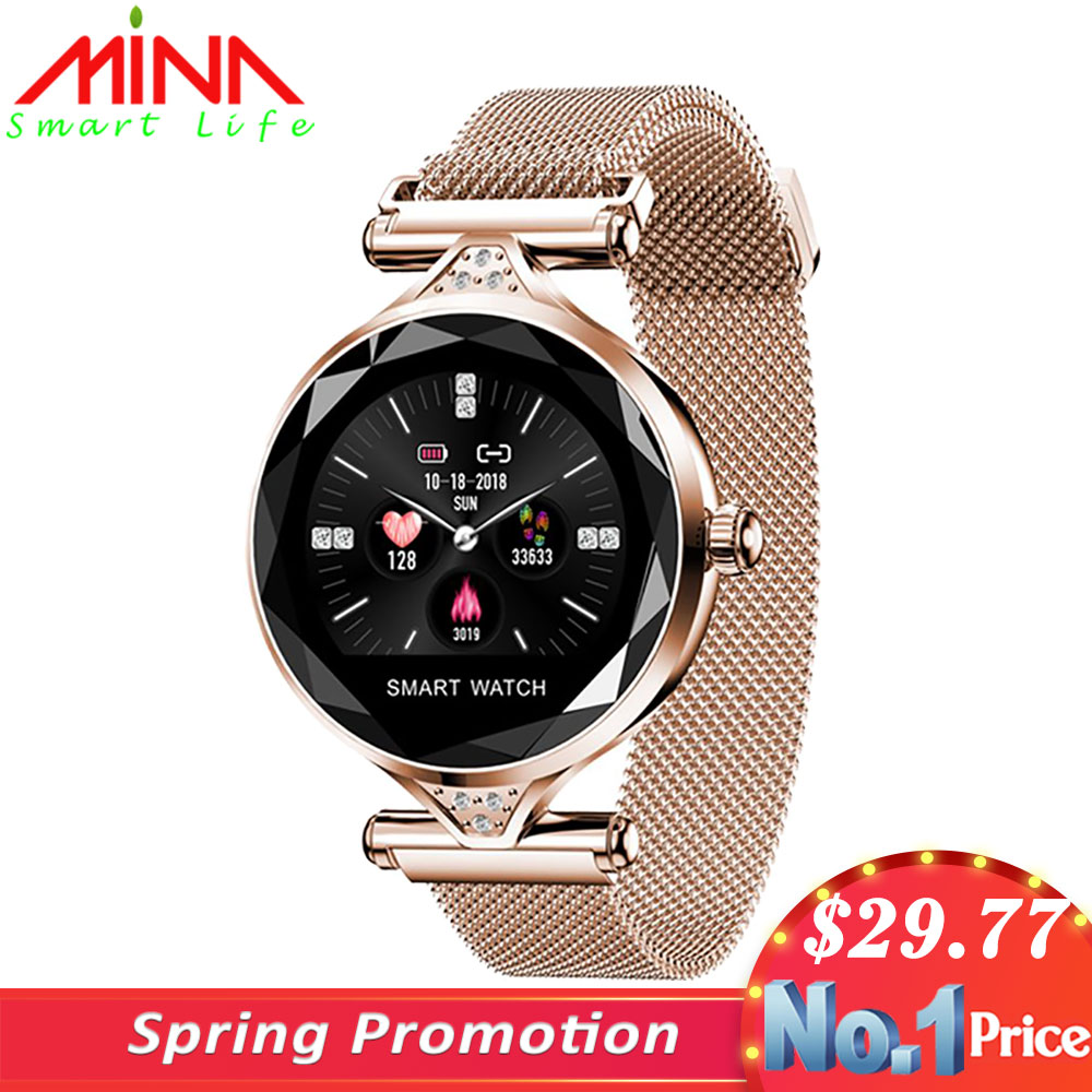 H1 Women Smart Watch reloj inteligente Heart Rate Monitor Fitness Tracker Lady Smartwatch Wristband Bluetooth Waterproof